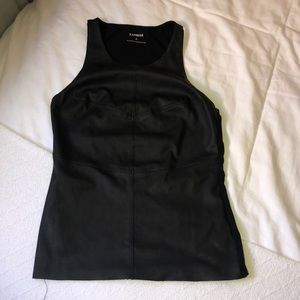 "Black ""leather"" tank top"